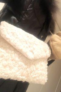マイリトルボックス2020年2月手袋とチェーンバッグ装着