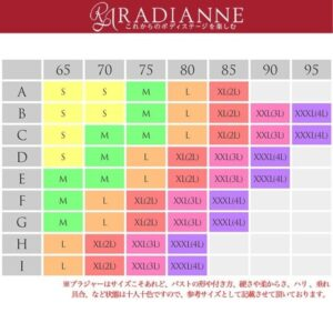 リフトアップマタニティブラサイズ表