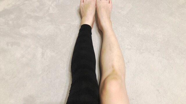 フラミンゴレギンスで左右脚の比較
